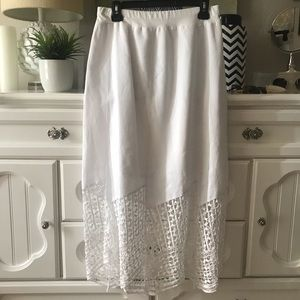 Chico's White Maxi Skirt
